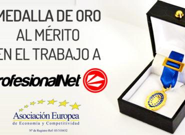 La AEDEEC otorga su «Medalla de Oro Europea» a Gilberto Ripio CEO de la Agencia de Marketing Digital, ProfesionalNet