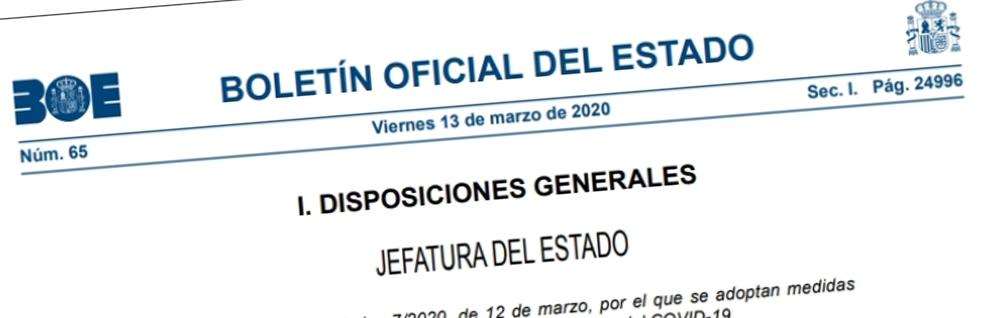 El Real Decreto Ley 7/2020
