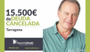 Repara tu Deuda Abogados cancela 15.500€ en Tarragona (Catalunya) gracias a la Ley de Segunda Oportunidad